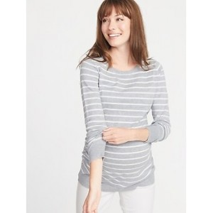 Maternity Fitted Crew-Neck Sweater 30% Off Taken at Checkout