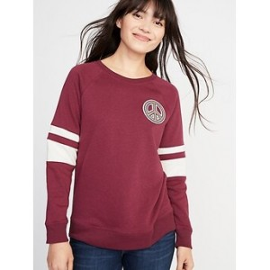Relaxed Graphic Crew-Neck Sweatshirt for Women 2 Days Only Deal