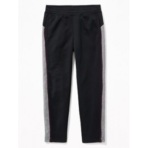 Go-Dry Color-Block Velour-Trim Track Pants for Boys Hi, I'm New
