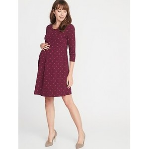 Maternity Jersey Fit & Flare Dress Best Seller