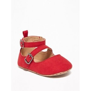 Faux-Suede Double-Strap Ballet Flats for Baby Best Seller