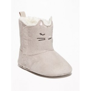 Faux-Suede Kitty-Critter Boots for Baby Hi, I'm New