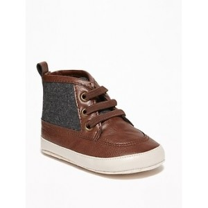 Felt/Faux-Leather Dress Boots for Baby 30% Off Taken at Checkout