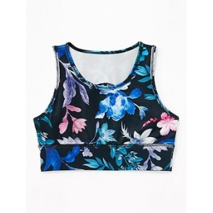 Printed Go-Dry Cool Long-Line Sports Bra for Girls 30% Off Taken at Checkout