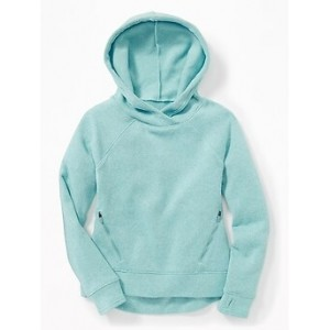 Go-Warm Relaxed Sweater-Knit Hoodie for Girls 30% Off Taken at Checkout