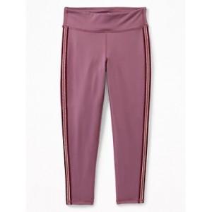 Go-Dry Side-Stripe 7/8-Length Leggings for Girls 30% Off Taken at Checkout