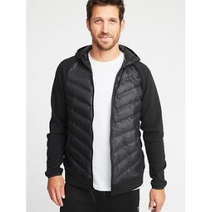Go-Warm Quilted Fusion Hooded Jacket for Men 30% Off Taken at Checkout