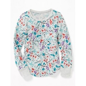 Thermal-Knit Scoop-Neck Tee for Girls Hot Deal