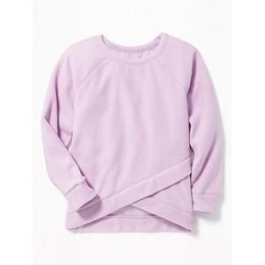 Micro Performance Fleece Cross-Hem Top for Girls 30% Off Taken at Checkout