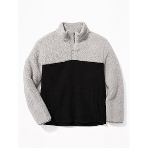 Sherpa Color-Block 1/4-Zip Popover for Boys 30% Off Taken at Checkout