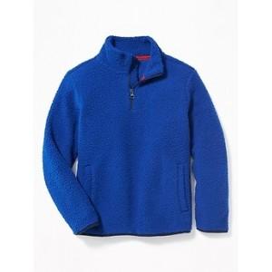 Sherpa 1/4-Zip Mock-Neck Popover for Boys 30% Off Taken at Checkout