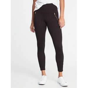 High-Rise Zip-Pocket 7/8-Length Street Leggings for Women Hi, I'm New