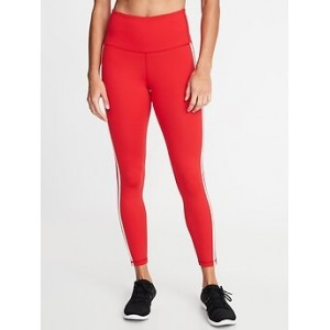 High-Rise Side-Stripe 7/8-Length Compression Leggings for Women 30% Off Taken at Checkout