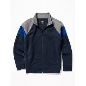 Go-Dry Color-Block Velour-Trim Track Jacket for Boys 30% Off Taken at Checkout