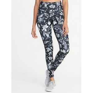 High-Rise Floral Compression Leggings for Women 30% Off Taken at Checkout