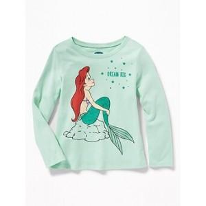 Disney&#169 The Little Mermaid Dream Big Long-Sleeve Tee for Toddler Girls Hi, I'm New