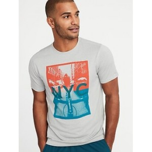 Go-Dry Eco Graphic Performance Tee for Men 30% Off Taken at Checkout
