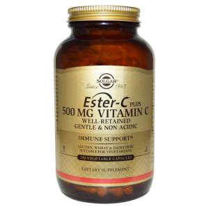 Solgar, Ester-C Plus 500 mg Vitamin C, 250 Veggie Caps-SOL82233 ( 유통기한 임박상품 2018년9월 )