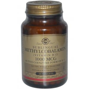 Solgar, Sublingual Methylcobalamin (Vitamin B12), 1000 mcg, 60 Nuggets-SOL82289 02/2019