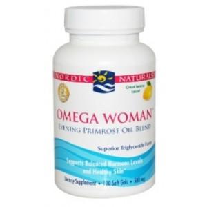 Nordic Naturals - Omega Woman Evening Primrose Oil Blend Lemon 500 mg. - 120 Softgels-NOR55011
