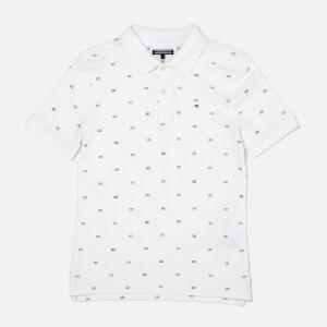 Tommy Hilfiger Boys Pattern Polo Shirt - Bright White