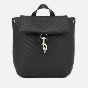 Rebecca Minkoff Womens Edie Flap Backpack - Black