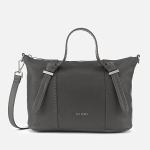 Ted Baker Womens Olmia Knotted Handle Small Tote Bag - Charcoal
