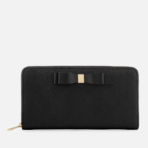 Ted Baker Womens Aine Bow Zip Around Matinee Purse - Black