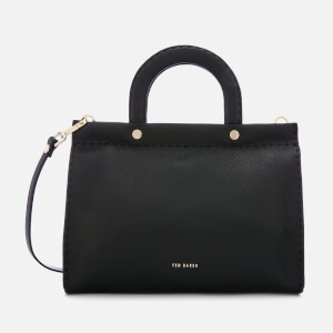Ted Baker Womens Monicaa Stab Stitch Midi Tote Bag - Black