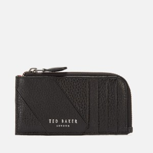 Ted Baker Mens Fitcard Seamed Leather Card Holder - Black