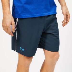 Under Armour Mens Qualifier WG Perf Shorts - Academy/Ether Blue