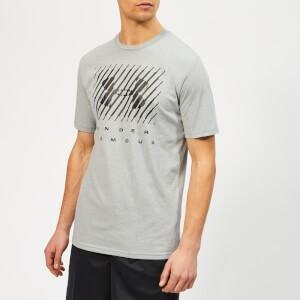 Under Armour Mens Branded Big Logo T-Shirt - Steel Light Heather