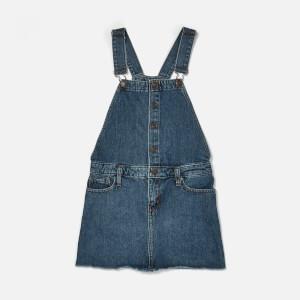 Tommy Hilfiger Girls Dungaree Dress - Blue