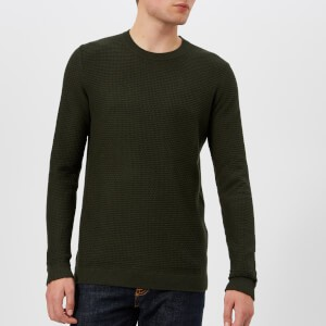 Ted Baker Mens Percypi Crew Neck Knitted Jumper - Green