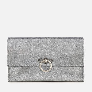 Rebecca Minkoff Womens Metallic Jean Clutch Bag - Silver