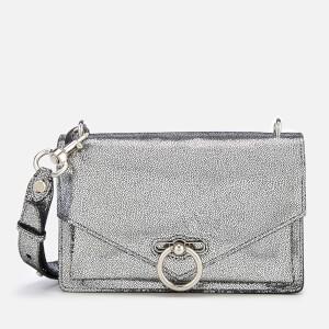 Rebecca Minkoff Womens Metallic Jean Medium Shoulder Bag - Silver