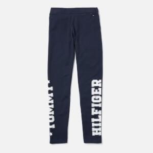 Tommy Hilfiger Girls Essential Branded Leggings - Navy
