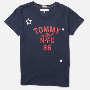 Tommy Hilfiger Girls Essential Tommy Logo T-Shirt - Black Iris