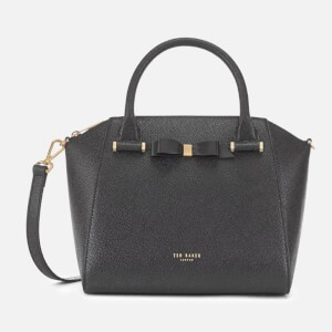 Ted Baker Womens Janne Bow Detail Zip Tote Bag - Black