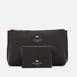 Ted Baker Womens Fabiana Bow Washbag and Mirror Set - Black