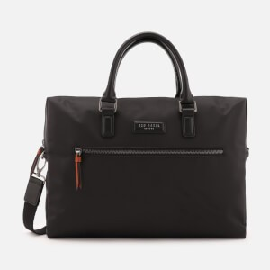 Ted Baker Mens Dancer Satin Nylon Document Bag - Black