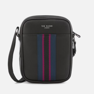 Ted Baker Mens Jets Webbing Flight Bag - Black