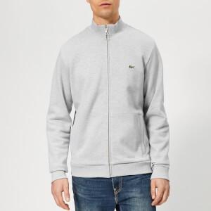 Lacoste Mens Full Zip Pique Top - Grey