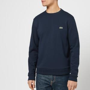 Lacoste Mens Classic Embossed Logo Crew Sweatshirt - Navy