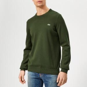 Lacoste Mens Classic Cotton Crew Knit Jumper - Khaki