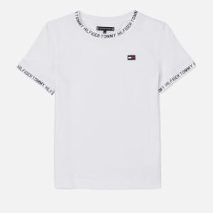 Tommy Hilfiger Boys Printed Rib T-Shirt - Bright White