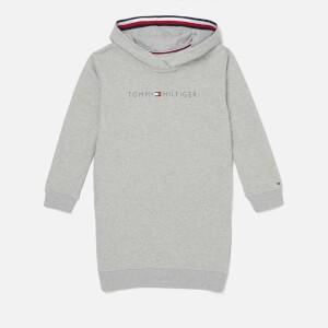 Tommy Hilfiger Girls Essentials Hoodie Dress - Light Grey Heather