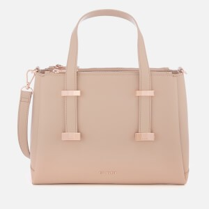Ted Baker Womens Julieet Bow Adjustable Handle Small Tote Bag - Taupe