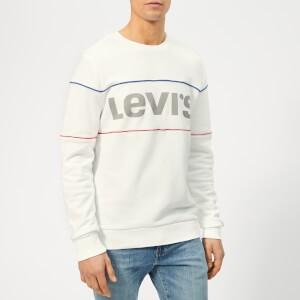 Levis Mens Reflective Crew Sweatshirt - White Reflective