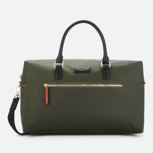 Ted Baker Mens Rokket Satin Nylon Holdall Bag - Olive